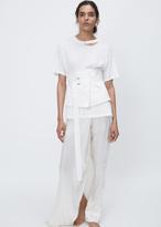 Ann Demeulemeester forester off-white large raw edge waist belt