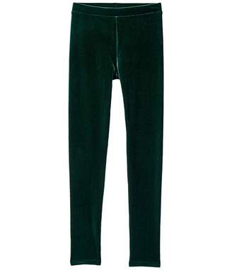 J.Crew Crewcuts By crewcuts by Stretch Velvet Leggings (Toddler/Little Kids/Big Kids) (Deep Alpine) Girl's Casual Pants