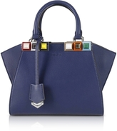 Fendi Blueberry Mini 3 Jours Studded Tote Bag