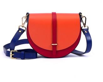 Hiva Atelier Mini Arcus Leather Bag Red & Orange & Parliament