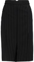 Norma Kamali Pinstriped Crepe Skirt