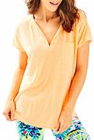 Lilly Pulitzer V-neck Tangerine Tee