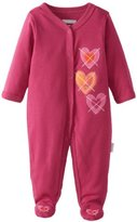 Vitamins Baby Girls Newborn Heart Footed Coverall