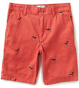 Class Club Big Boys 8-20 Embroidered-Whale Twill Shorts