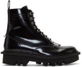 Neil Barrett Black Pierced Military Boots