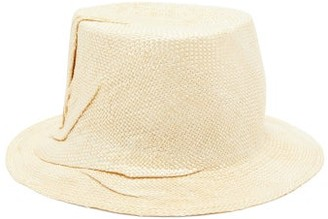 BEIGE Reinhard Plank Hats - Crushed Woven Bucket Hat - Womens
