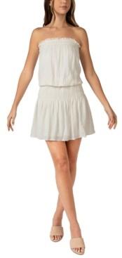B. Darlin Juniors' Strapless Smocked Dress