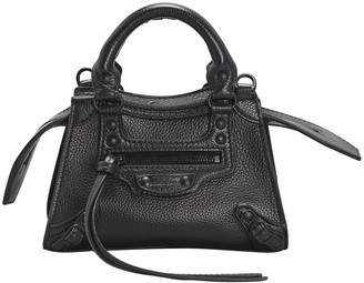 Balenciaga Neo Classic City Mini Pebbled Leather Satchel Bag