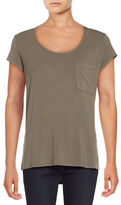 Lord & Taylor Iconic Fit Scoop Neck T-shirt
