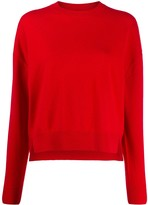 Closed relaxed-fit cropped jumper
