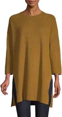 Eileen Fisher Textured High-low Linen-Blend Tunic