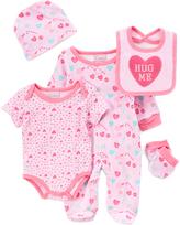 Sweet & Soft Pink 'Hug Me' Five-Piece Layette Set - Infant