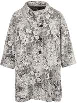 House of Fraser Chesca Ivory Jersey Floral Jacquard Coat