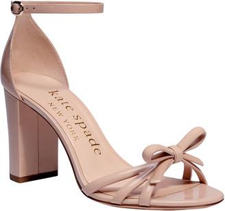 Kate Spade Flamenco Bow Patent Block-Heel Sandals