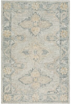 Bungalow Rose Waterville Handmade Tufted Wool Light Gray Area Rug Rug Size: Rectangle 2' x 3'