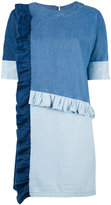 Sjyp patchwork denim dress - women - Cotton - S