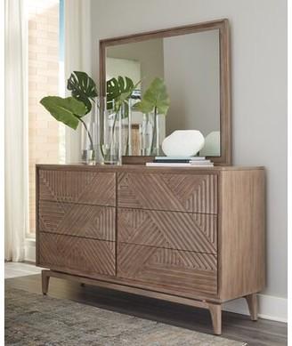 Corrigan Studio Sudbury 6 Drawer Double Dresser with Mirror