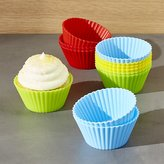 Crate & Barrel Set of 12 Multicolor Silicone Baking Cups
