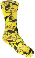 Pokemon Pikachu Print Men's Crew Socks