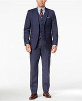 Lauren Ralph Lauren Men's Big & Tall Slim-Fit Blue Plaid Vested Suit