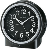Seiko Bedside Alarm With Dial Light And Beep Alarm With Snooze Black Clock Qhe117klh