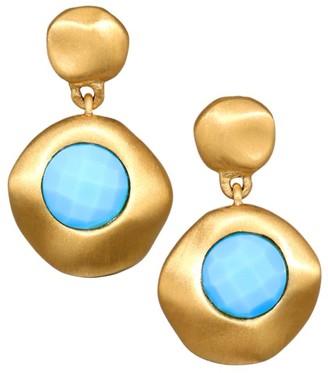 Dean Davidson 22K Goldplated & Turquoise Mini Drop Earrings