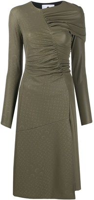 Marine Serre Ruched Mid-Length Dress