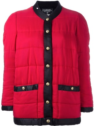Chanel Pre Owned Contrast Puffer Jacket