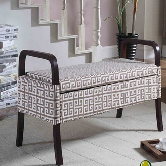 Latitude Run Powers Upholstered Storage Bench