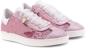 MonnaLisa Low Top Glitter Detail Sneakers