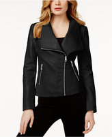 GUESS Colorblocked Faux-Leather Jacket