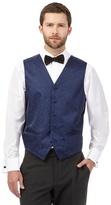 Black Tie Big And Tall Navy Jacquard Waistcoat