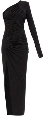 Alexandre Vauthier One-shoulder Crystal-embellished Gown - Black