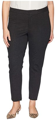 NYDJ Plus Size Plus Size Ponte - Ankle Pants (Charcoal) Women's Casual Pants