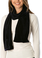 Pure Style Girlfriends Navy Velvet Ribbed Scarf
