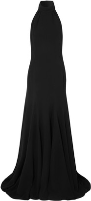 Stella McCartney Pleated Crepe Halterneck Gown