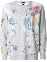 Just Cavalli paint print sweatshirt