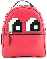 Les Petits Joueurs Baby Mick Eyes backpack - women - Calf Leather - One Size