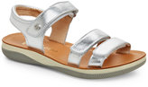 Naturino Toddler Girls) Silver Leather Sandals