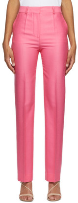 Victoria Victoria Beckham Pink Wool Drainpipe Trousers