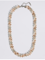 M&S Collection Pearl Effect Long Rope Double Necklace