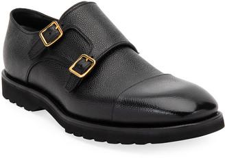 Tom Ford Men's Kensington Double-Monk Dress Loafers