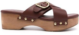 Ancient Greek Sandals Marilisa stud-detail clogs