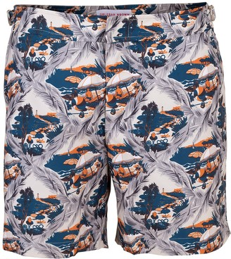 Orlebar Brown Bulldog Summer Scene Swim Trunks