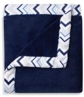 Just Born Mix & Match Classic Collection Cuddle Plush Blanket in Navy