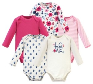 Touched by Nature Baby Girl Bodysuits, Set of 5