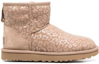 UGG Classic mini II leopard print boots