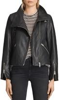 AllSaints Lewin Leather Biker Jacket