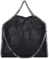 Stella McCartney Falabella Tote Fold Over Black Faux Leather Bag