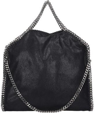 Stella McCartney Falabella Tote Fold Over Black Faux Leather Bag